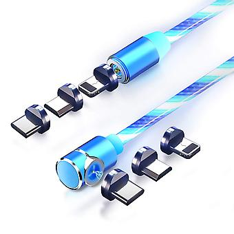 Type C Flowing Led Magnetic Charging 3 In 1 Usb Cable