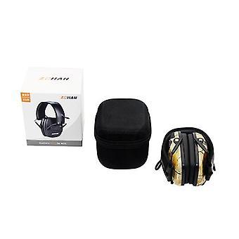 Taktická elektronická sluchátka earmuff, ochrana sluchu pro lov,