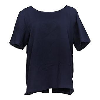 Joan Rivers Women's Top Wardrobe Builders Scoop Neck Knit Blue A347343