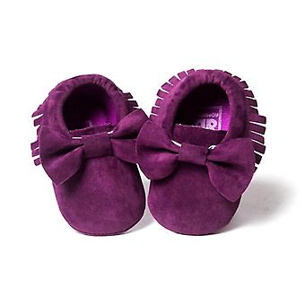 Baby Soft Flock Tassel Moccasins Booties Shoes