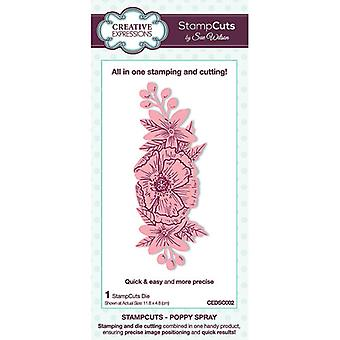 Creative Expressions StampCuts - Spray de Papoula