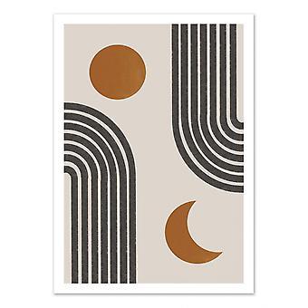 Art-Poster - Dag en nacht - Miuus studio