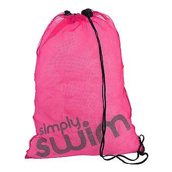 Yksinkertaisesti swim uima verkko laukku - pinkki