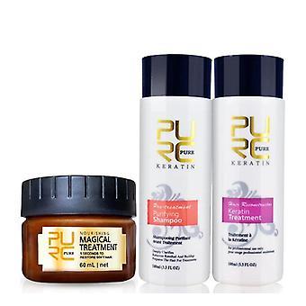 Argan Hair Oil Mask Treatment, Keratin Straightener & Purifying Shampoo Hair