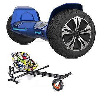 """NEW - 8.5"""" G2 PRO Monster Blue All Terrain Bluetooth Segway Hoverboard with a FREE Monster Kart (Choose Colour Kart: Hip Hop)"""