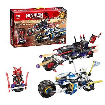 Compatible avec naruto Giant Wheel Motorcycle Battle Assembled Blocks (pas de boîte)