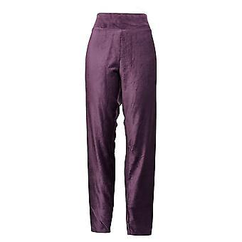Cuddl Duds Plus Leggings Corduroy Stretch Purple A384372