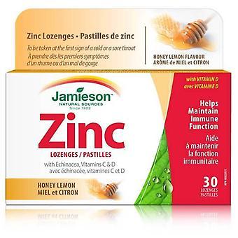 Jamieson Pastilles De Zinc Avec Échinacée Vitamines C Et D Miel Et Citron