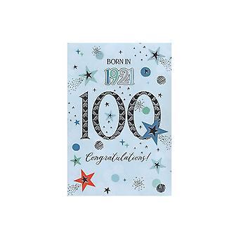 ICG Ltd 2021 Male 100 Year You Were Born Birthday Card