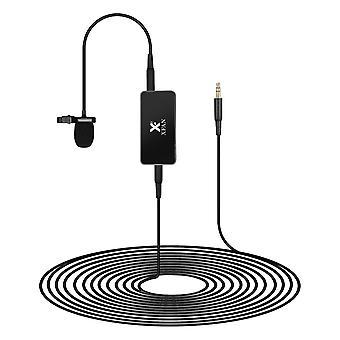 Ilman monisuuntainen laavampi mikrofoni clip-on langallinen lauhduttimen mikrofoni kaapelin pituus 6m