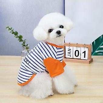 犬や猫のための夏のペットの服のためのかわいいスマイリーフェイスパターン