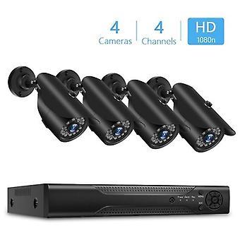 4 Kanal Digital Video Recorder + 4pcs 1080P Kameras mit Home Security and Surveillance System eingebaut 24pcs IR LED-Leuchten unterstützen Remote Viewing und Steuerung Unterstützung Festplatte (HARD DRIVE NICHT INCLUDED) AU Plug