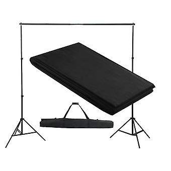 vidaXL Фотофон система 300 x 300 см Черный