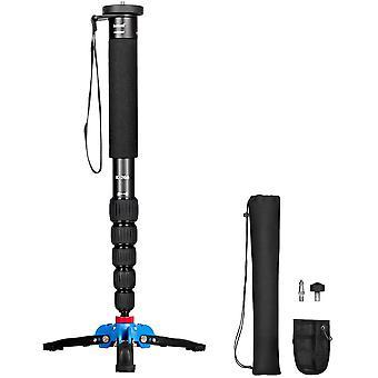 Ausziehbare Kamera Aluminium Einbeinstativ mit abnehmbarer Stativhalterung.6 Abschnitte 42-160 cm