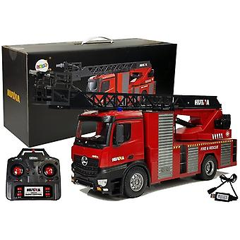 RC Feuerwehrauto 2.4G mit hoher Leiter & Feuerwehrschlauch