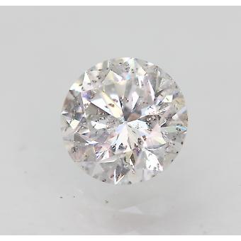 Sertifioitu 0,61 karat D SI1 pyöreä loistava parannettu luonnon timantti 5,37mm 3EX