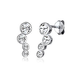 Elli Basic Geo Kvinders øreringe med Sølv Swarovski Krystaller 925