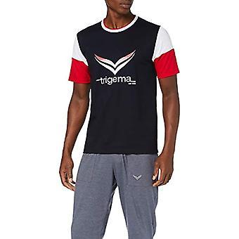 Trigema 637213119 T-Shirt, Blue (Navy 046), XXXX-Large Men