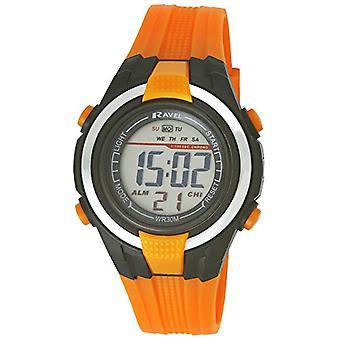 TimeLine Press, LLC RDB-18 - Boy's wristwatch, orange plastic strap