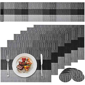 FengChun Tischset Platzset Abwischbar 13er Set mit 6er Tischsets + 6er Untersetzern+1 Langen