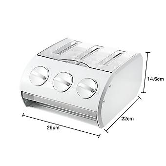 Multi Functional Semi Automatical Ice Cube Making Mould Box Frost Resistant (White)