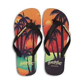 BeachyFeet Mens Sunset Lover Flip Flops