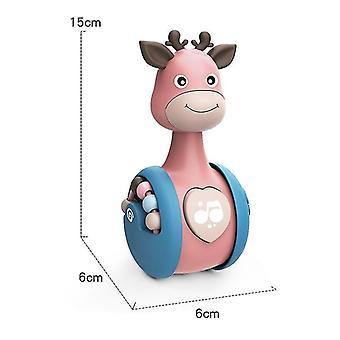 Blue giraffe tumbler doll baby toyscute toys for boys and girls x4594