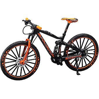 オレンジミニ1:10合金自転車スケールモデルダスクトップシミュレーション装飾指マウンテンバイクおもちゃcai317
