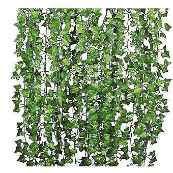 12 خيوط الاصطناعية النباتات ورقة اللبلاب كرمة شنقا الزهور أوراق الشجر وهمية الاكليل x7909