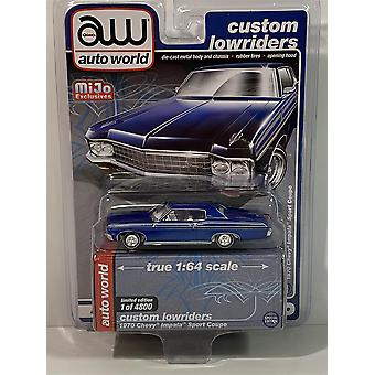 1962 Chevrolet Impala SS Hard Top Blue 1:64 Auto World AWCP7666