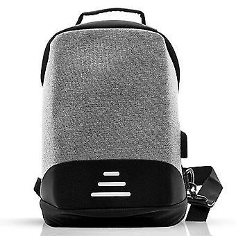 Aquarius Grey Advanced Anti Theft Backpack con zip oculto y puerto cargador USB
