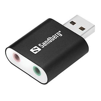 Sandberg External Soundcard, USB, 5 Year Warranty, OEM