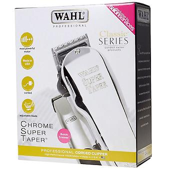 Wahl Limited Edition Chrome Super Taper Combo Pack