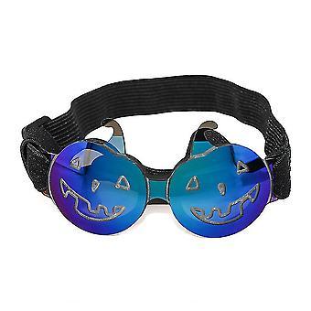 Halloween sluneční brýle pro malé a střední domácí mazlíčky, brýle pro fotografické rekvizity (modrá)