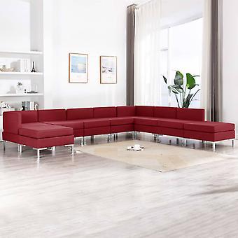 vidaXL 9 kpl. Sohvasentti kangasviini punainen