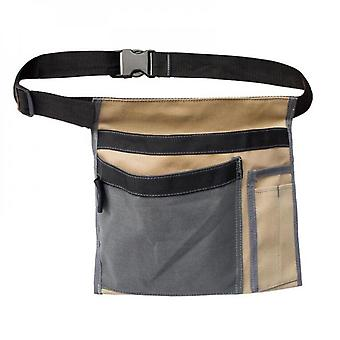 Mimigo 210d Oxford Tool Pouch Single Side Apron With 5 Pockets And 1 Hammer Loop, Fits For Hammer, Pencils, Screwdrivers