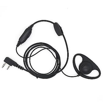 D Shape Earphone for Kenwood Soft Rubber Earpiece Headset for Motorola Radio With One Pin &