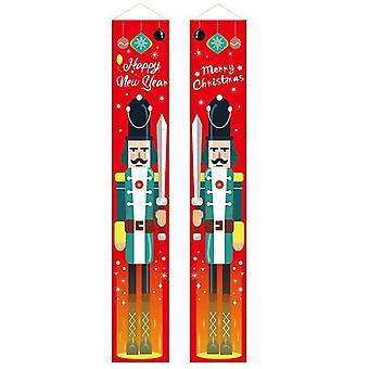 (2) Feliz Natal Festa santa pendurado Banner Garden Banners Decoração porta de natal