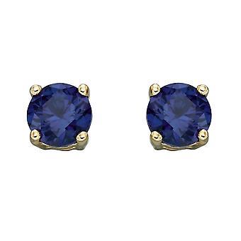 HS Johnson HSJ-GE2334 Women's 9ct Gold Sapphire Stud Earrings