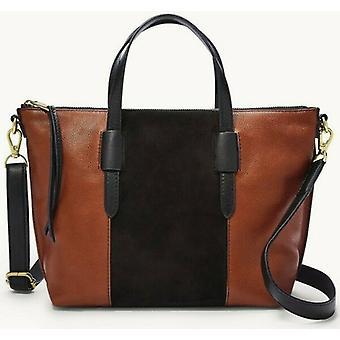 Fossil Skylar táska crossbody barna bőr fekete velúr SHB2725199