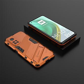 BIBERCAS Xiaomi Mi 10T Pro Case with Kickstand - Shockproof Armor Case Cover TPU Orange