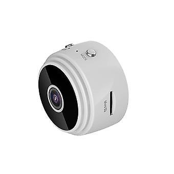 ミニスパイカメラのWiFi A9 1080P、ナイトビジョンとモーション検出DVR視野角150°(白)