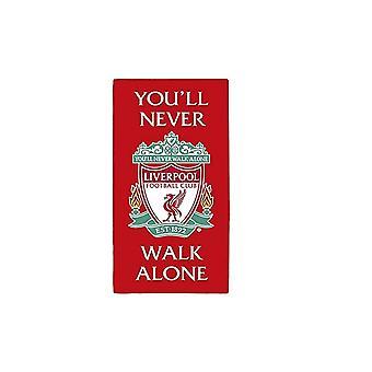Liverpool FC Handtuch, das Sie nie alleine gehen