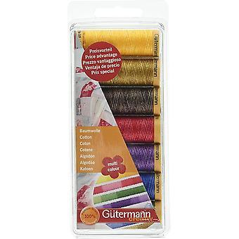 Gutermann 7 Thread Set: 100% Cotton - Assorted Multi-Colour