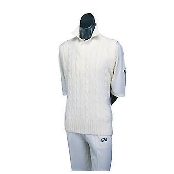 Gunn & Moore GM kriketové oblečenie sveter obyčajný kábel bez rukávov pletené
