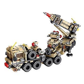 549Pcs Tank Plane 12 IN 1 Armored Vehicle Model Educational Building Blocks Toys