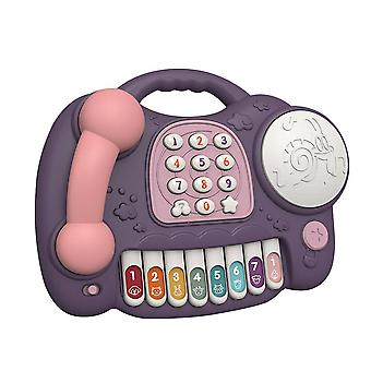 Electronic Musical Telephone Toy For Baby Educational Piano Phone Keyboard Learning Music