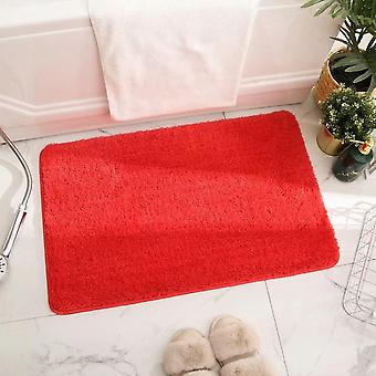 Thickened Non-slip Absorbent Floor Mat For Bathroom And Toilet 50*80cm (orange Red)