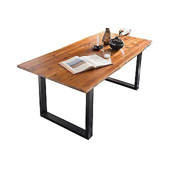 Tomasso's Alessandria Dining Table - Modern - Cognac - Acacia - 120 cm x 80 cm x 77 cm