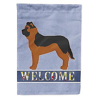 Flags windsocks black german shepherd mastiff mix welcome flag garden size